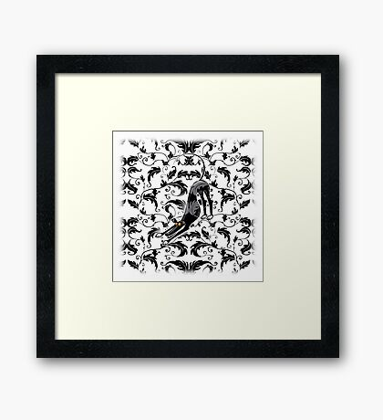 Arts & Crafts Bowdown Hound Framed Print