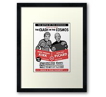 Captain vs. Captain Framed Print