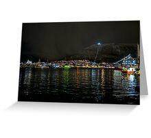 Tromso Harbour Greeting Card