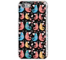beautiful pattern love chameleons iPhone Case/Skin