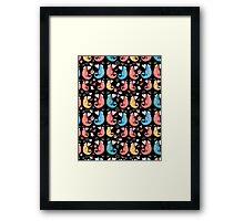 beautiful pattern love chameleons Framed Print
