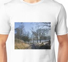 Country Lane in Winter Unisex T-Shirt