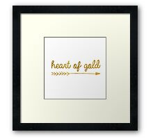 Heart of gold | quotes Framed Print