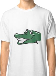 head crocodile funny naughty Classic T-Shirt
