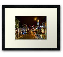 Tromso Christmas Shopping Framed Print