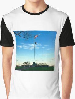 Sag Harbor NY US POW-MIA Flag Patriotism - Hamptons Graphic T-Shirt