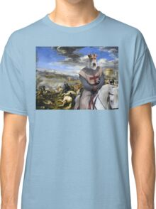 Wire Fox Terrier Art - Scene with infantry Cavalry Classic T-Shirt