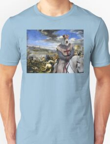 Wire Fox Terrier Art - Scene with infantry Cavalry T-Shirt
