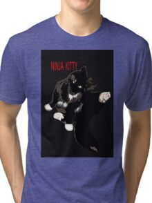 CAT NINJA KITTY Tri-blend T-Shirt