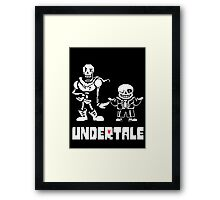 Undertale-Papyrus and Sans Framed Print