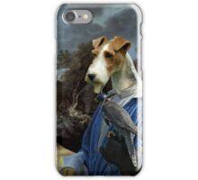 Wire Fox Terrier Art - Falconers iPhone Case/Skin
