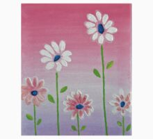 Daisies reaching for the sun original acrylic painting Kids Clothes