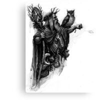 wizard with owl Canvas Print