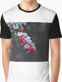 Red Berries With Frost Graphic T-Shirt