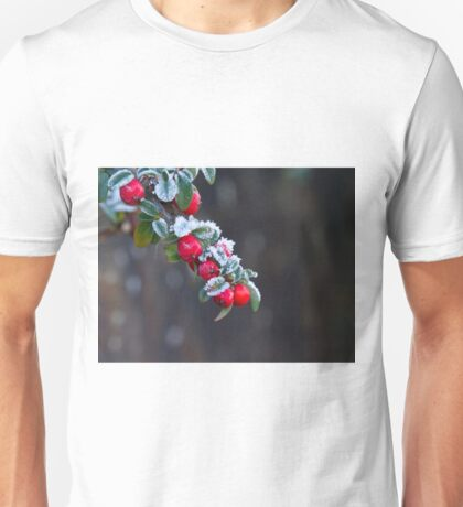 Red Berries With Frost Unisex T-Shirt