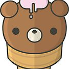 Cute Ice Cream Bear by geraldbriones