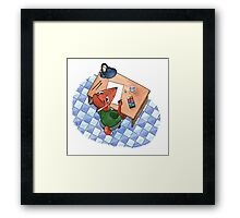 The fox an artist Framed Print