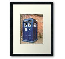 TARDIS - police box Framed Print