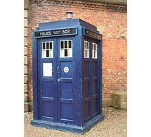 TARDIS - police box Photographic Print