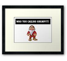 Who you calling grumpy?! Framed Print