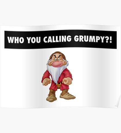 Who you calling grumpy?! Poster