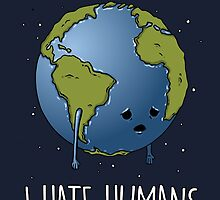 I Hate humans (blue) by GreatDesignBR