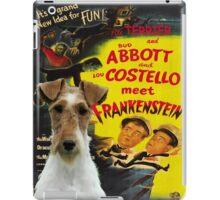 Wire Fox Terrier Art - Meet Frankenstein Movie Poster iPad Case/Skin