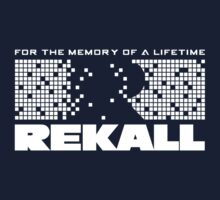 Rekall - Total Recall (White) Kids Tee