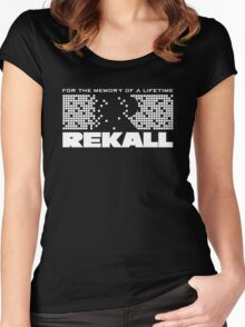 Rekall - Total Recall (White) Women's Fitted Scoop T-Shirt