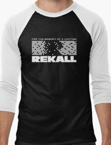 Rekall - Total Recall (White) Men's Baseball ¾ T-Shirt