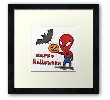 Spider-Halloween Framed Print
