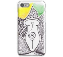 Lotus Goddess (color) iPhone Case/Skin