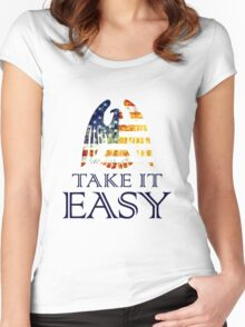Take It Easy ~ Eagles Women's Fitted Scoop T-Shirt