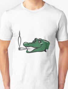 Crocodile funny naughty joint kiffen head T-Shirt