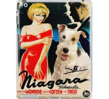 Wire Fox Terrier Art - Niagara Movie Poster iPad Case/Skin
