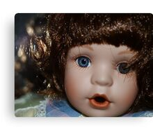 The staring doll Canvas Print