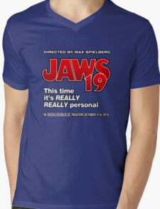 Jaws 19 - This time it's really really personal (Back to the Future) Mens V-Neck T-Shirt