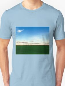 East Hampton Landscape on a Fall Day - Blue and Green Unisex T-Shirt