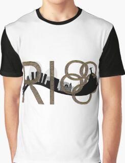 Abstract Rio de Janeiro skyline Graphic T-Shirt
