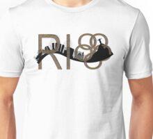 Abstract Rio de Janeiro skyline Unisex T-Shirt