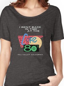 I Went Back In Time at the Cafe 80s - Back to the Future Women's Relaxed Fit T-Shirt