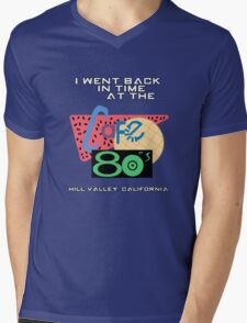 I Went Back In Time at the Cafe 80s - Back to the Future Mens V-Neck T-Shirt