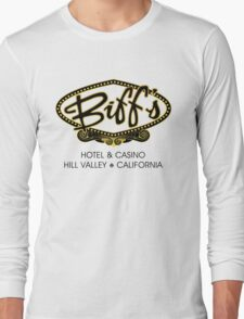 Biff's Hotel and Casino - Back to the Future (Black and Yellow) Long Sleeve T-Shirt