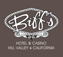 Biff's Hotel and Casino - Back to the Future (White and Black) One Piece - Short Sleeve
