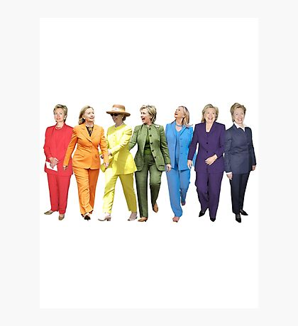Hillary Clinton Pantsuit Photographic Print