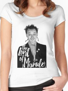 Rik Mayall - Lord Of Misrule Women's Fitted Scoop T-Shirt