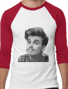Joe Sugg (Black + White) Men's Baseball ¾ T-Shirt