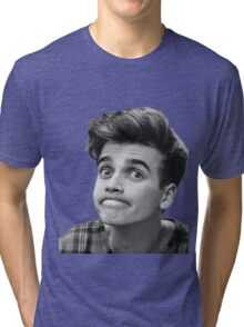 Joe Sugg (Black + White) Tri-blend T-Shirt