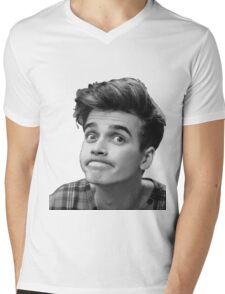 Joe Sugg (Black + White) Mens V-Neck T-Shirt