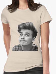 Joe Sugg (Black + White) Womens Fitted T-Shirt